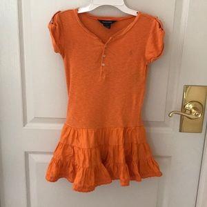 Ralph Lauren orange summer dress